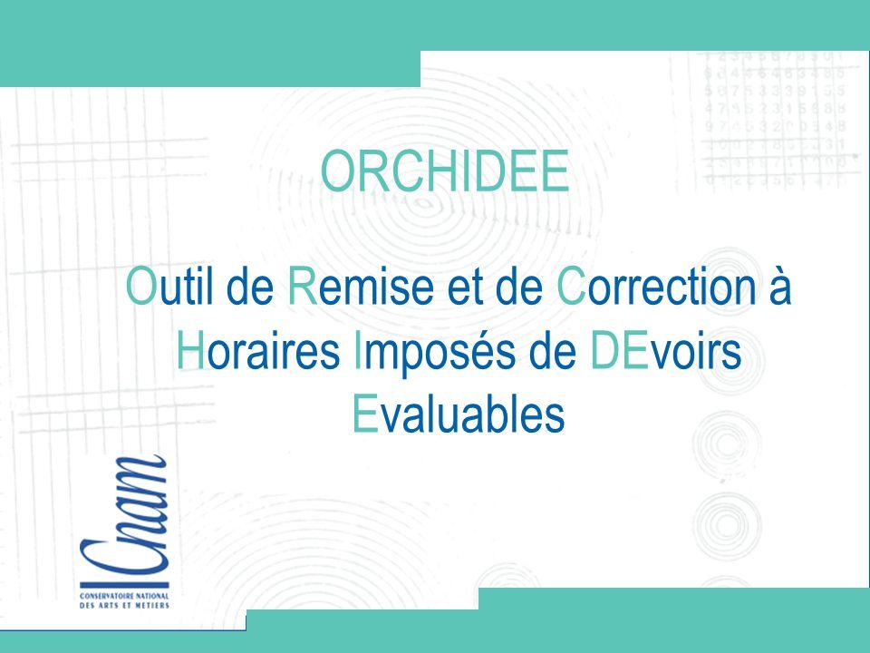 ORCHIDEE Outil de Remise et de Correction à Horaires Imposés de DEvoirs Evaluables