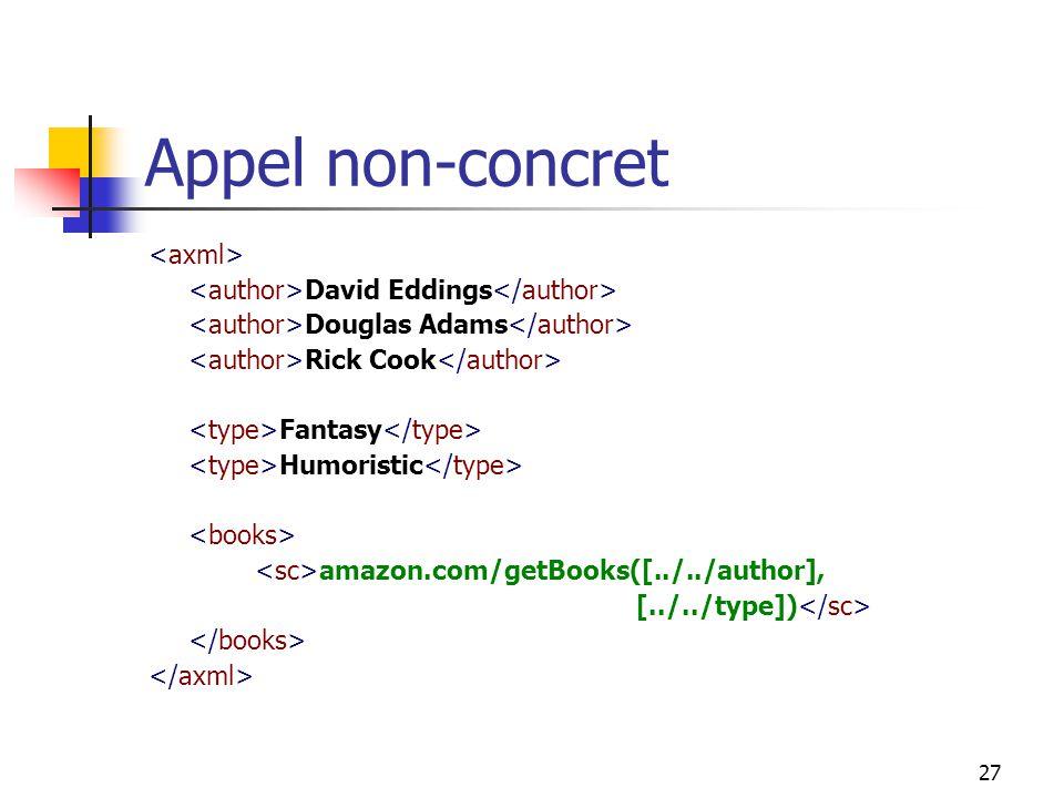 27 Appel non-concret David Eddings Douglas Adams Rick Cook Fantasy Humoristic amazon.com/getBooks([../../author], [../../type])