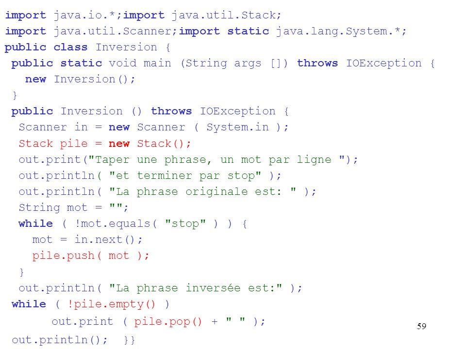 59 import java.io.*;import java.util.Stack; import java.util.Scanner;import static java.lang.System.*; public class Inversion { public static void mai