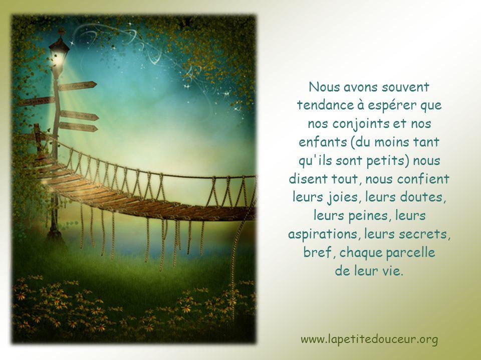 Nicole Charest © www.lapetitedouceur.org Cliquez pour avancer Faut-il tout dire ?