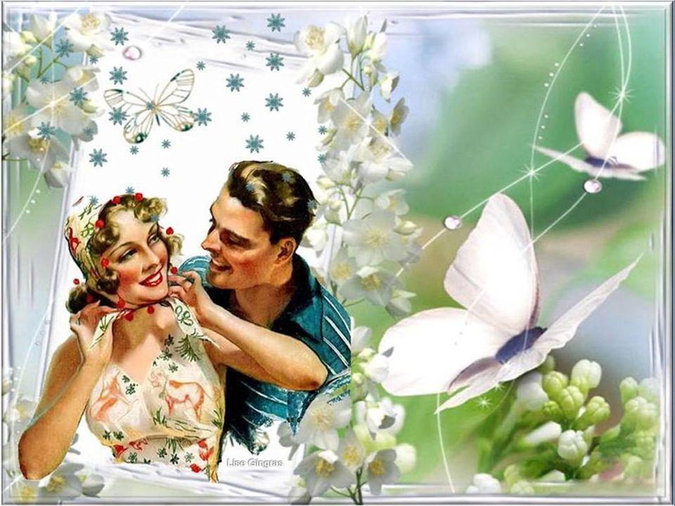 Les rires résistent au vent et à la pluie; Sous une cascade détoiles, je souris; Jaime les parfums et les fleurs colorées, Les roses en violettes et l