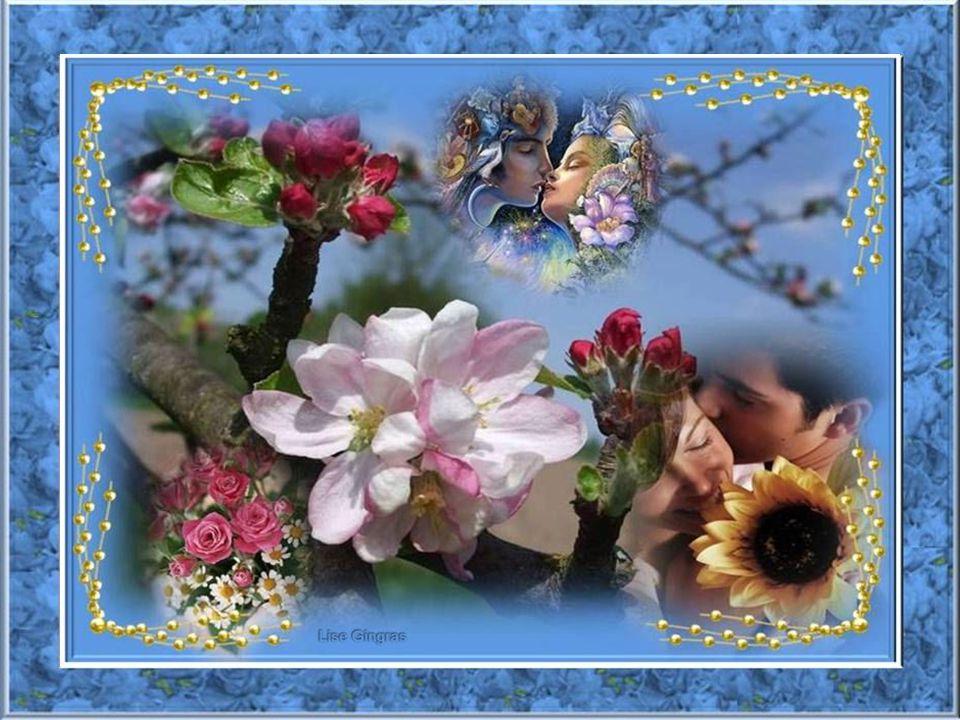 Les roses du jardin ont les yeux illuminés Et les oiseaux ont un air de liberté; Je retrouve la fébrilité de ma jeunesse; Ma vie est un doux souffle d