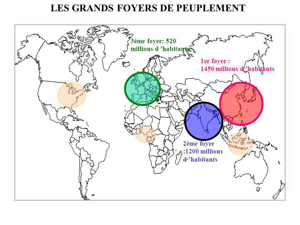 DES INTERROGATIONS Où sont localisées les principales zones de peuplement .