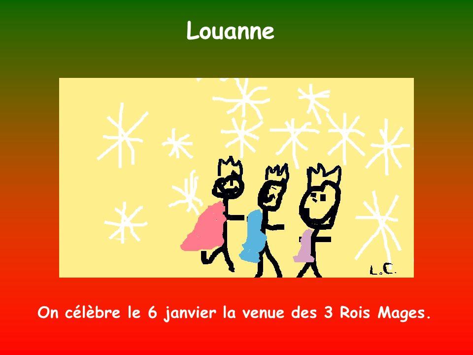 Louanne On célèbre le 6 janvier la venue des 3 Rois Mages.