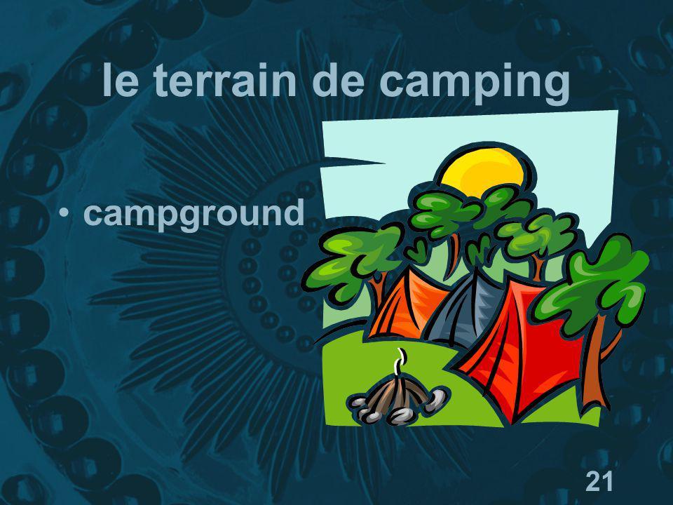 21 le terrain de camping campground