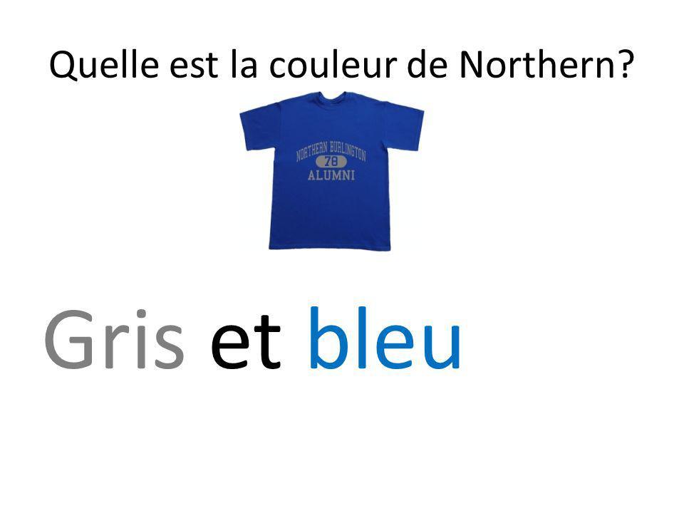 Quelle est la couleur de Northern? Gris et bleu