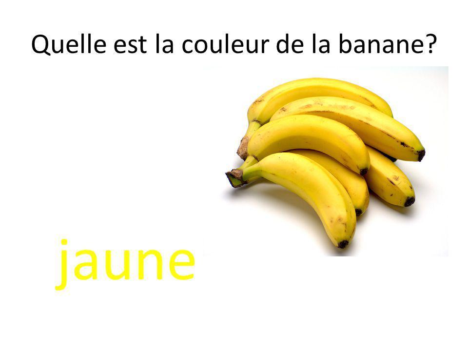 Quelle est la couleur de la banane? jaune