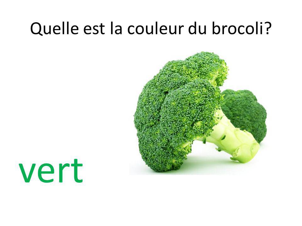 Quelle est la couleur du brocoli? vert