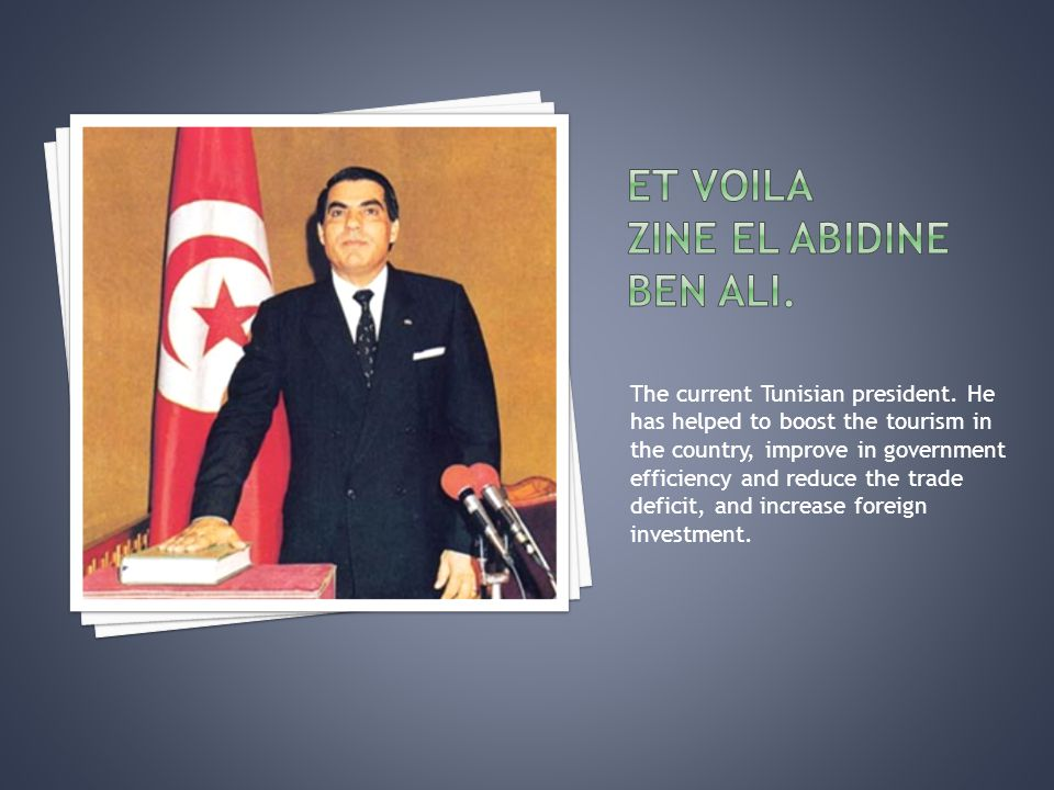 The current Tunisian president.