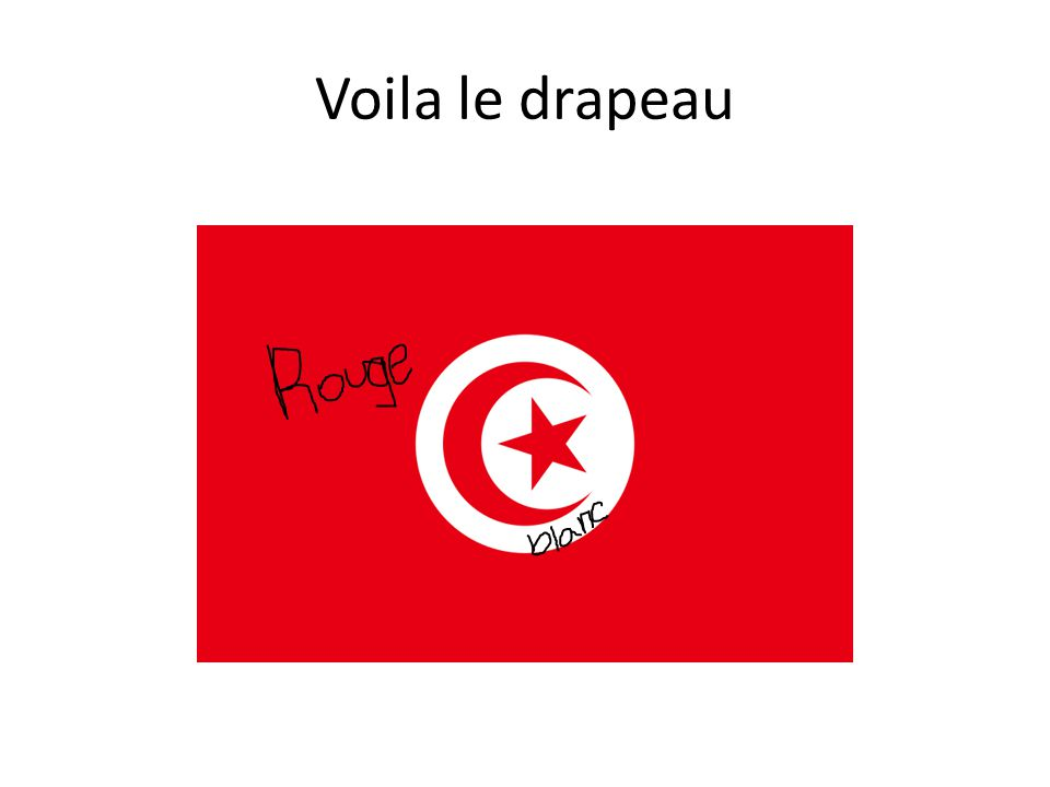 Voila le drapeau