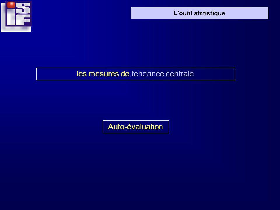 Loutil statistique les mesures de tendance centrale Auto-évaluation