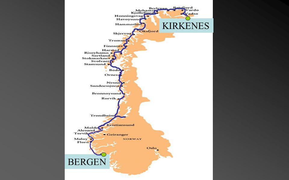 Richard With Ferry & service de transport entre Bergen et Kirkenes, les origines de cette route maritime remonte à plus de cent ans.