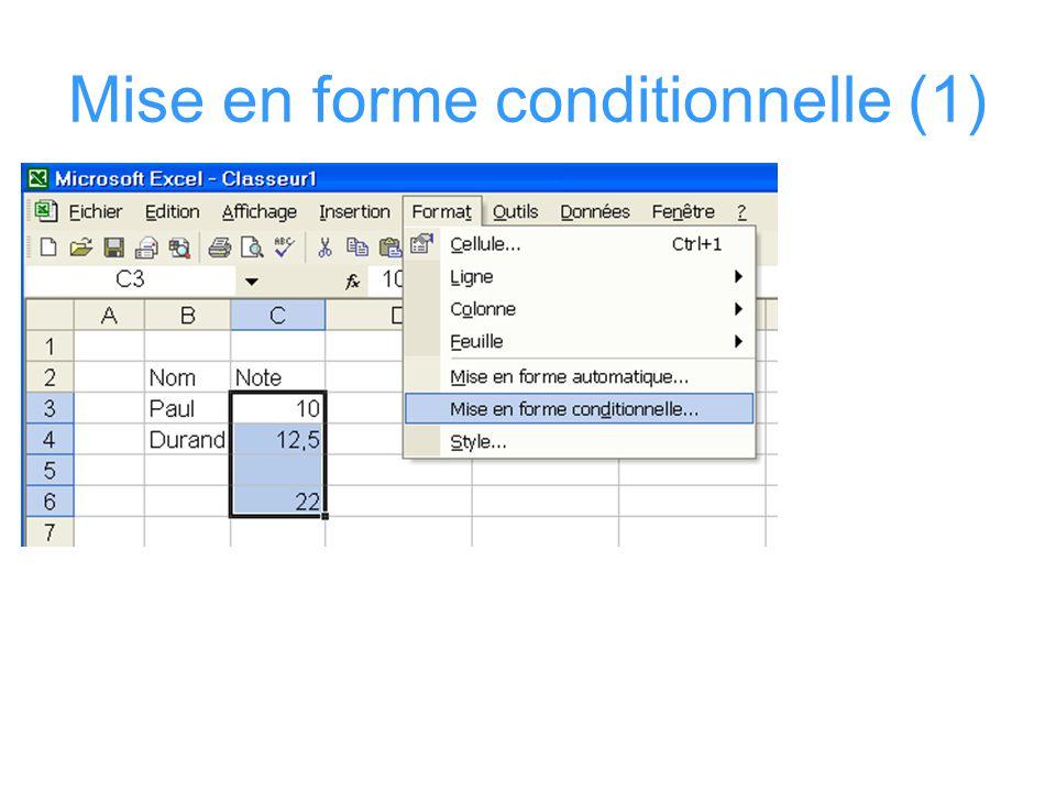 Mise en forme conditionnelle(2)
