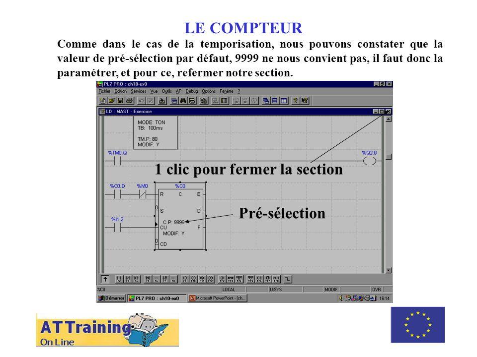 LE COMPTEUR Il faut développer le niveau « variables » et cliquer sur « FB Prédéfinis » pour avoir accès aux paramètres.