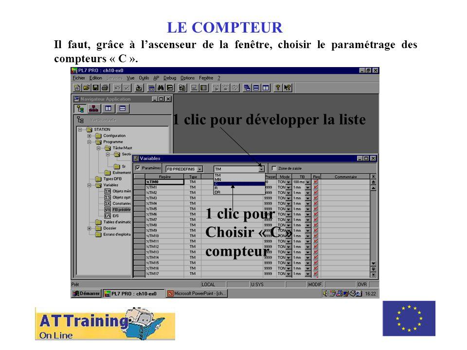 ROLE DES DIFFERENTS ELEMENTS LE COMPTEUR Il faut changer la pré-sélection 12, appuyer sur « Enter » pour valider et refermer la fenêtre.