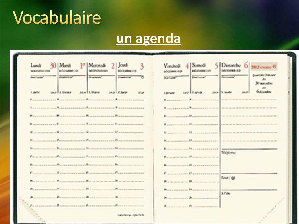 un agenda