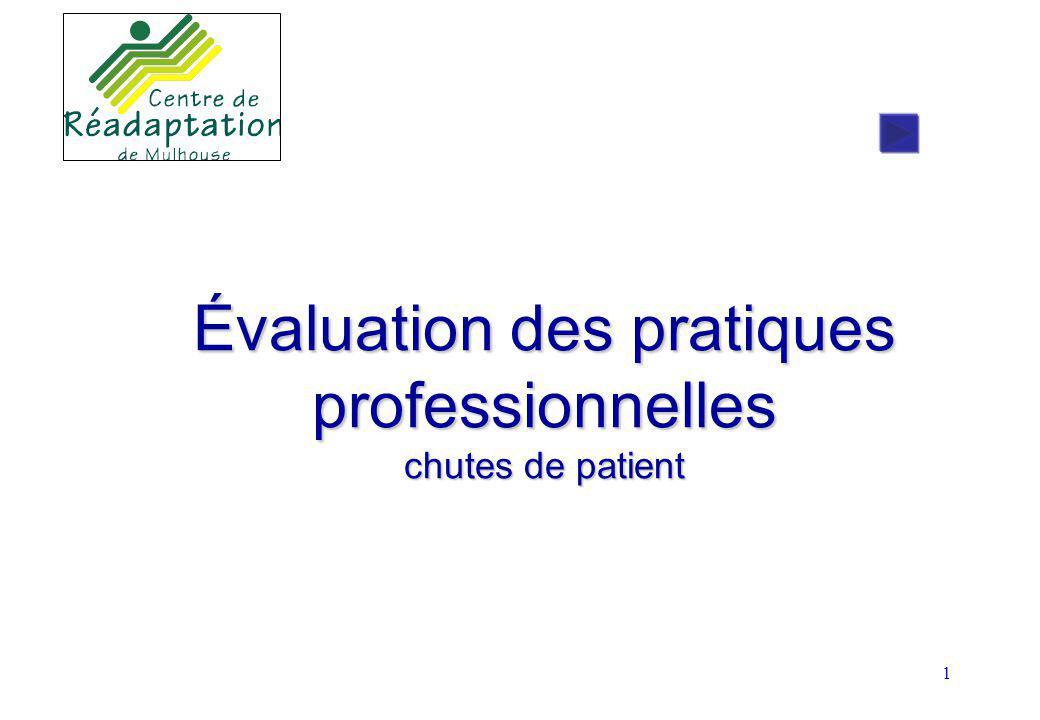 1 Évaluation des pratiques professionnelles chutes de patient