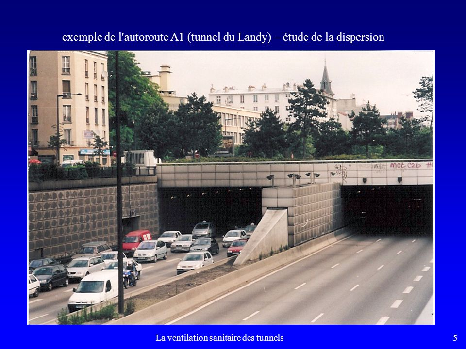 5 exemple de l autoroute A1 (tunnel du Landy) – étude de la dispersion