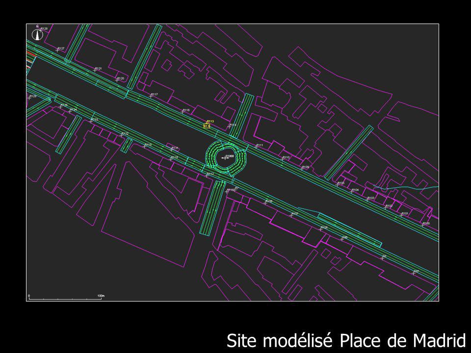 Site modélisé place de Madrid Site modélisé Place de Madrid