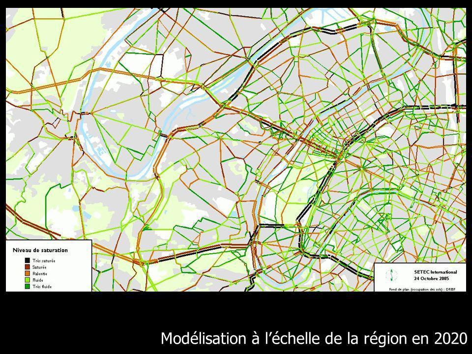 Modélisation à léchelle de la région en 2020