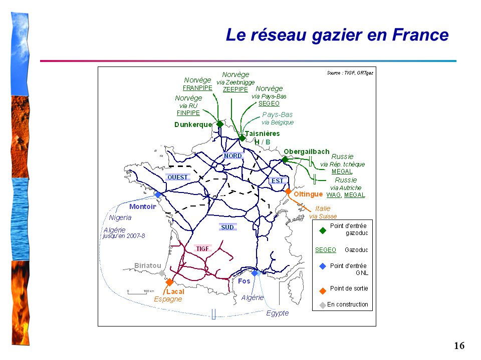 16 Le réseau gazier en France