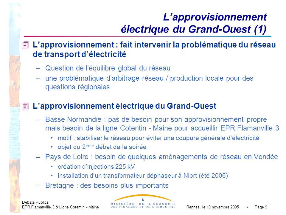 Débats Publics EPR Flamanville 3 & Ligne Cotentin - MaineRennes, le 16 novembre 2005 - Page 9 Lapprovisionnement électrique du Grand-Ouest (1) 4Lappro