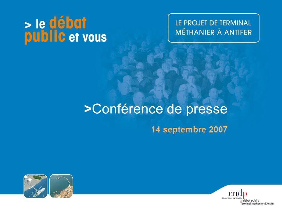 >Conférence de presse 14 septembre 2007