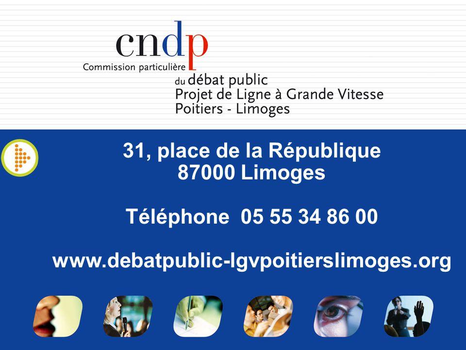 31, place de la République 87000 Limoges Téléphone 05 55 34 86 00 www.debatpublic-lgvpoitierslimoges.org