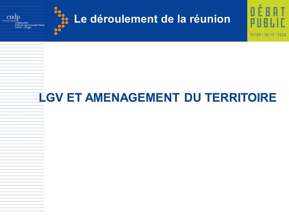 Le déroulement de la réunion LGV ET AMENAGEMENT DU TERRITOIRE