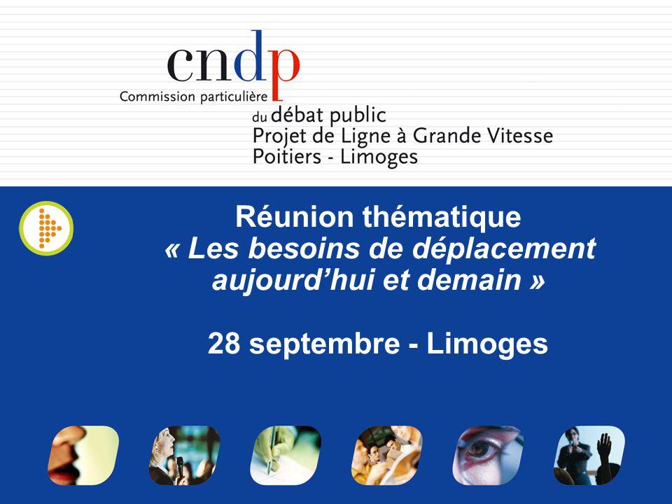 Réunion thématique « Les besoins de déplacement aujourdhui et demain » 28 septembre - Limoges
