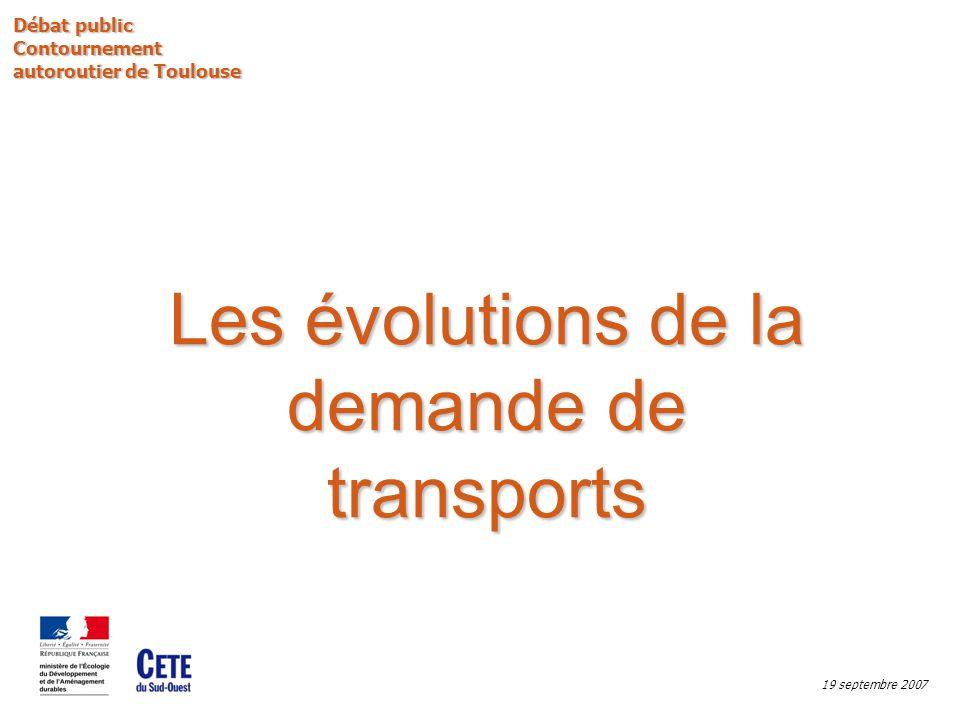 Sommaire : Les évolutions de la demande de transports -Éléments de rétrospective sur les 15 dernières années, -Et demain.