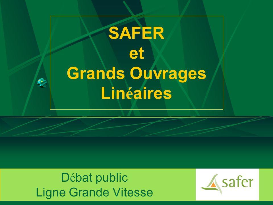 SAFER et Grands Ouvrages Lin é aires D é bat public Ligne Grande Vitesse