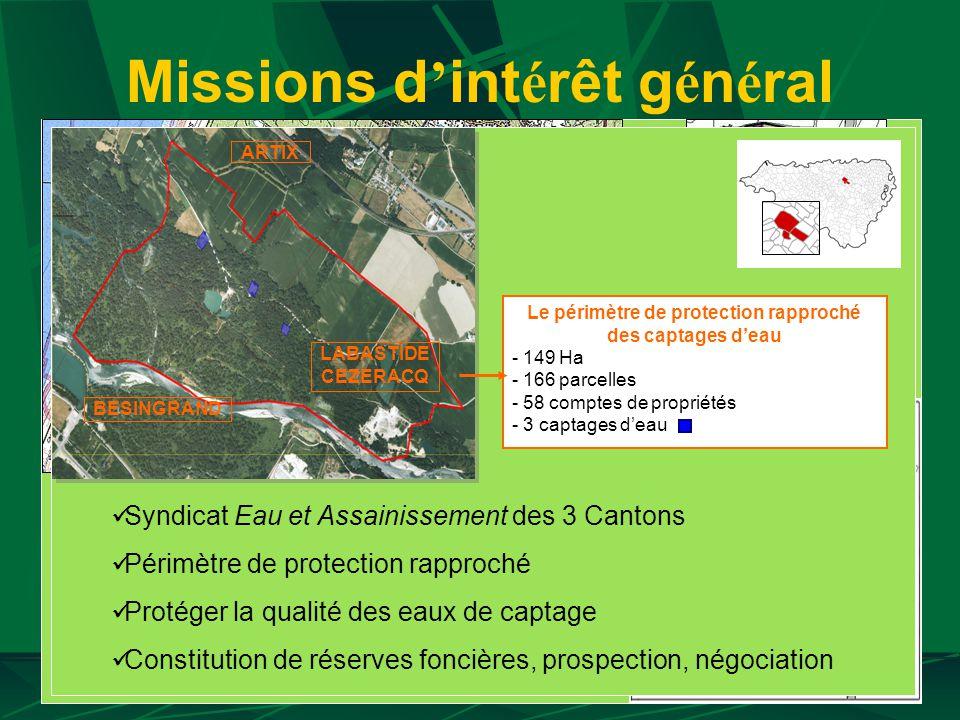 Missions d int é rêt g é n é ral Maintenir et d é velopper une agriculture dynamique et diversifi é e Installer, Agrandir, Restructurer Compenser les