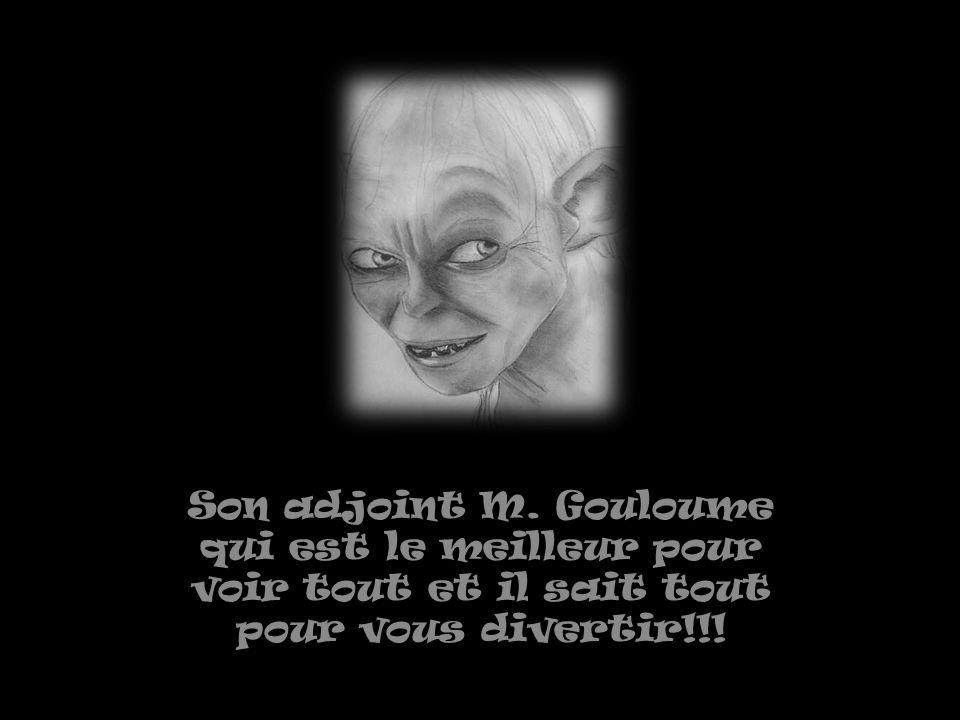 Son adjoint M. Gouloume qui est le meilleur pour voir tout et il sait tout pour vous divertir!!!