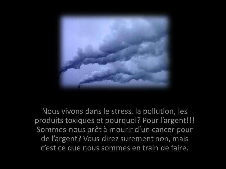 Nous vivons dans le stress, la pollution, les produits toxiques et pourquoi.