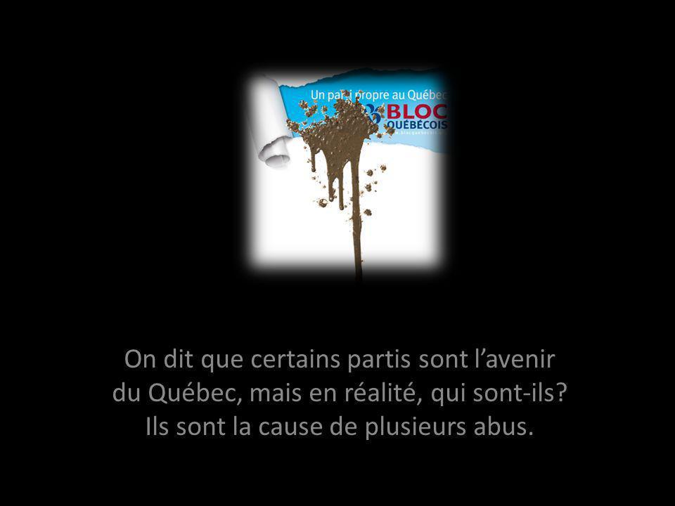On dit que certains partis sont lavenir du Québec, mais en réalité, qui sont-ils.