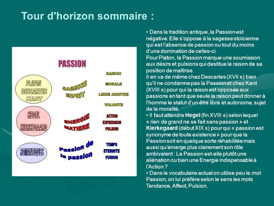 Q1: La Passion est elle compatible avec le libre arbitre, la volonté, la raison, la morale .