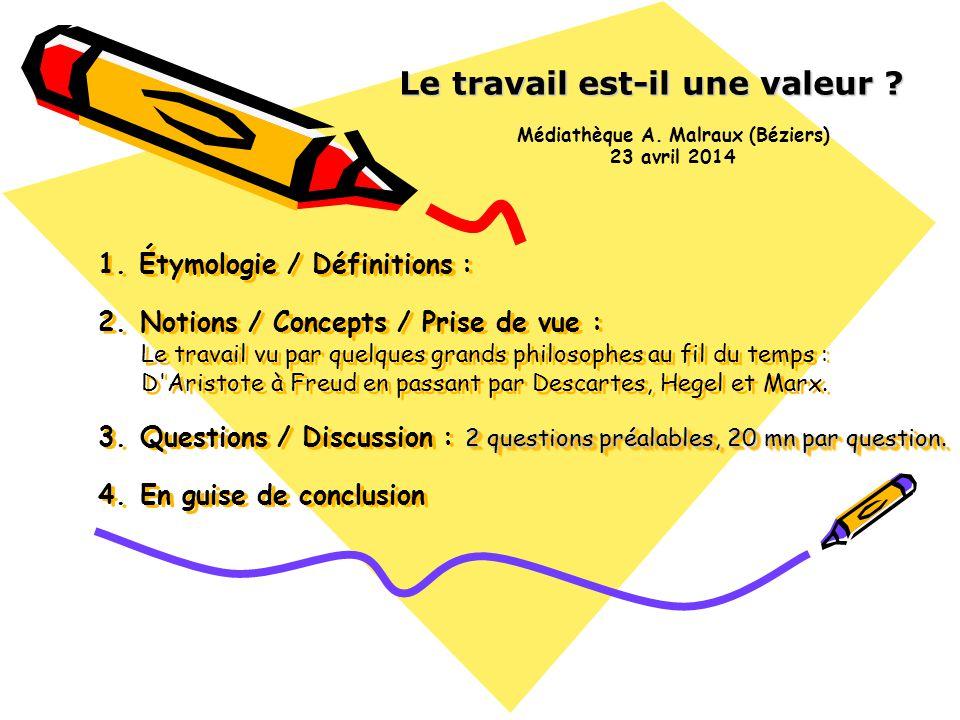 2 questions préalables, 20 mn par question.1. Étymologie / Définitions : 2.