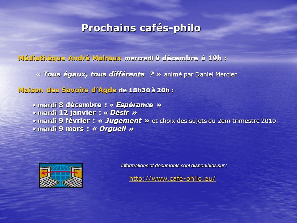 Médiathèque André Malraux mercredi 9 décembre à 19h : « Tous égaux, tous différents ? » animé par Daniel Mercier « Tous égaux, tous différents ? » ani