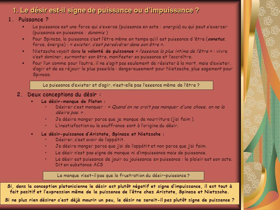 2.Désirer est-ce vouloir .Animation Michel Rumeau Vouloir, volition, volonté .