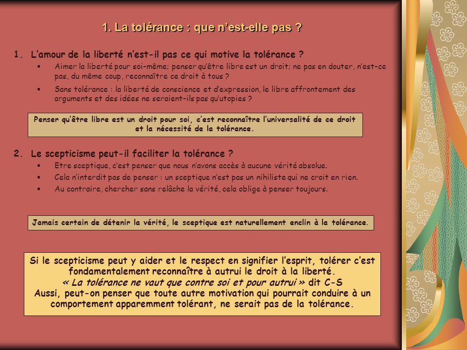 2.La tolérance a-t-elle des limites .Animation Michel Rumeau Tolérer lintolérance .