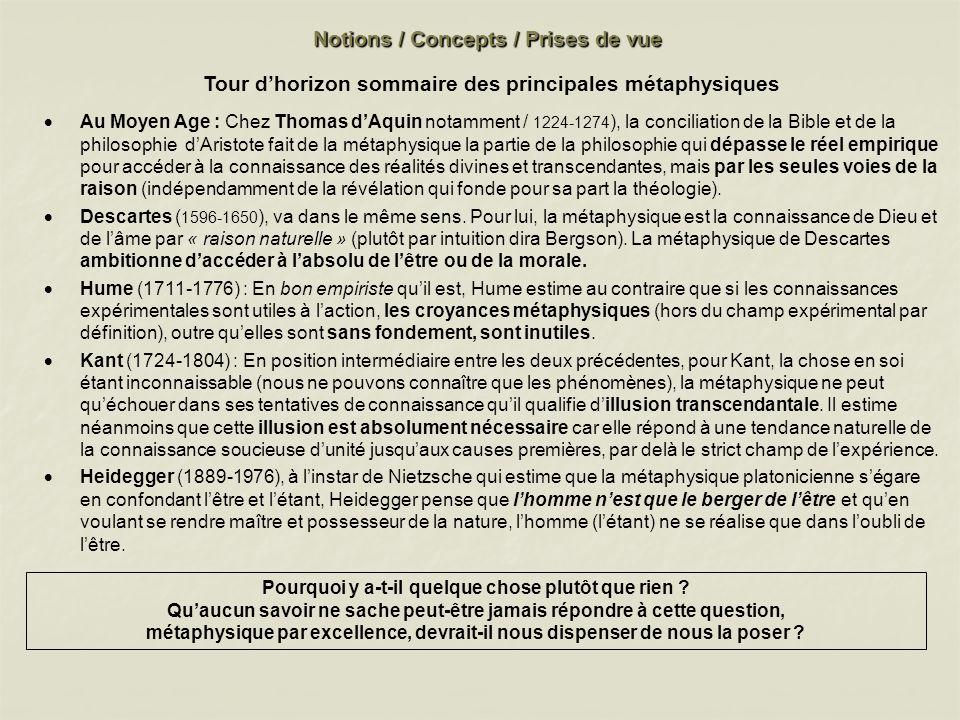 QUESTIONS 1.Où finit la physique et où commence la métaphysique .