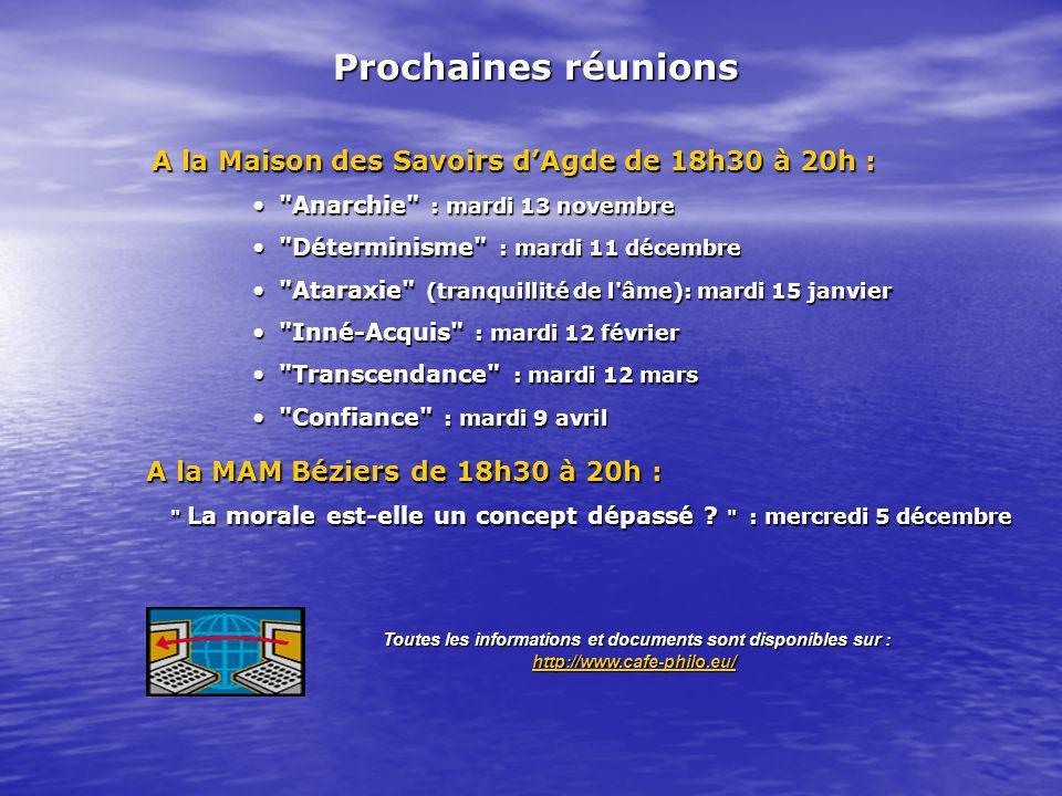 A la Maison des SavoirsdAgdede 18h30 à 20h : A la Maison des Savoirs dAgde de 18h30 à 20h :