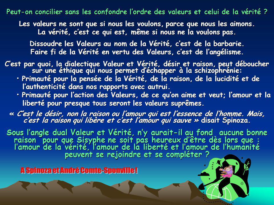Peut-on concilier sans les confondre lordre des valeurs et celui de la vérité .