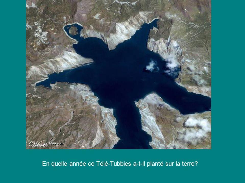 En quelle année ce Télé-Tubbies a-t-il planté sur la terre?
