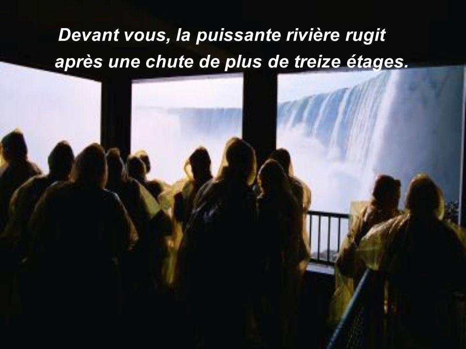 Une excursion vous amène bien bas sous le bord de la gorge. Vous êtes en plein coeur de Niagara.