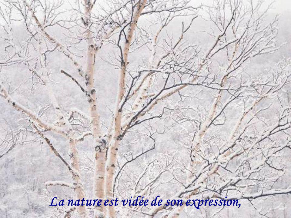 La nature est vidée de son expression,