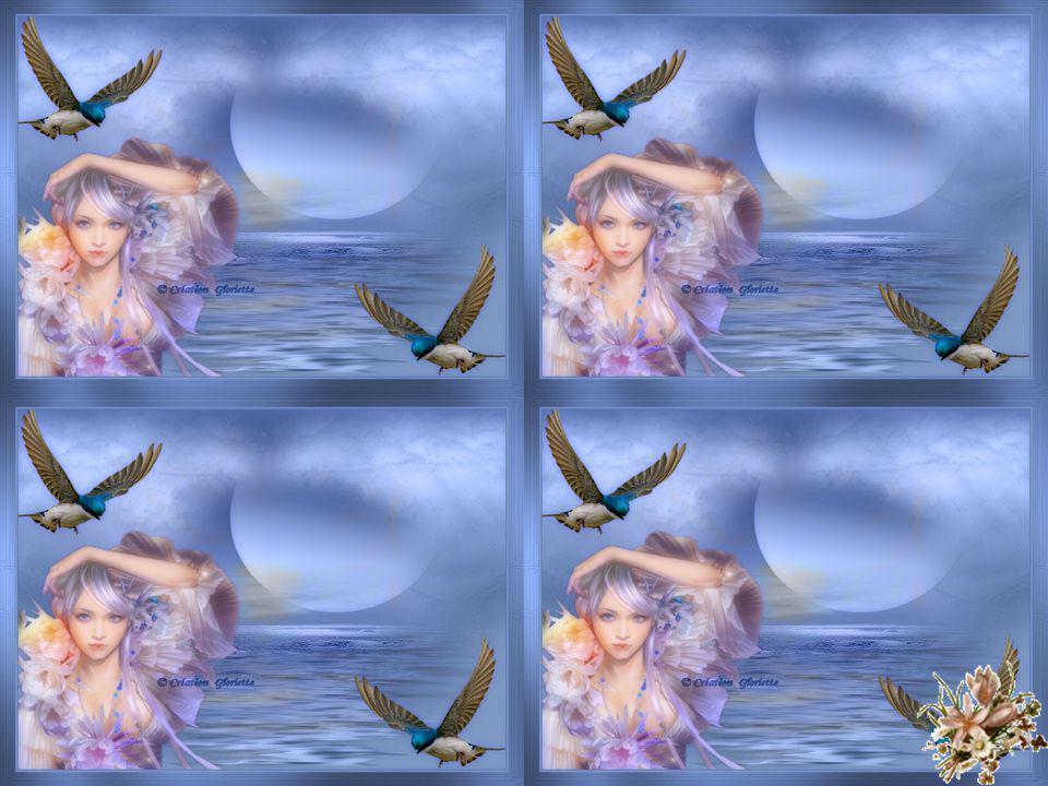 La mer aime le ciel et veut lui redire À lécart, en secret son infini tourment Quand la nuit amoureuse au large se retire Dans son lit de corail et de