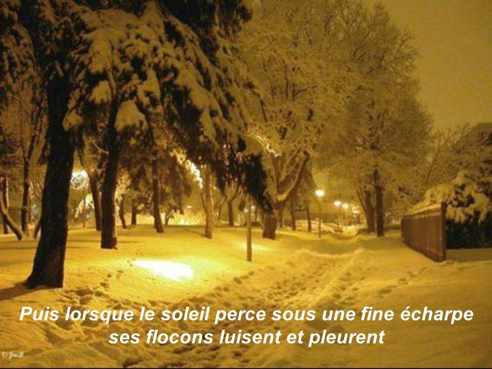 La neige est un empire glacial.