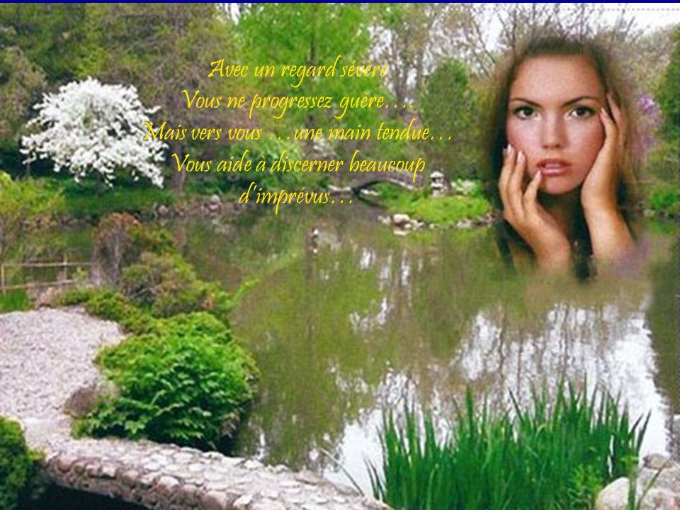 Seule la sagesse des fleurs médite secrètement …. Pour conserver en vous cette joie sereinement….